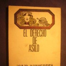 Libros de segunda mano: ALEJO CARPENTIER: - EL DERECHO DE ASILO - (BARCELONA, 1972). Lote 172948790