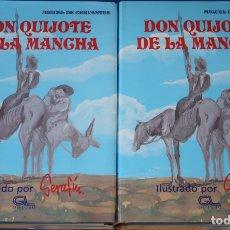Libros de segunda mano: DON QUIJOTE DE LA MANCHA - 2 TOMOS - ILUSTRADOS POR SERAFÍN - GRUPO LIBRO (1994). Lote 173509605