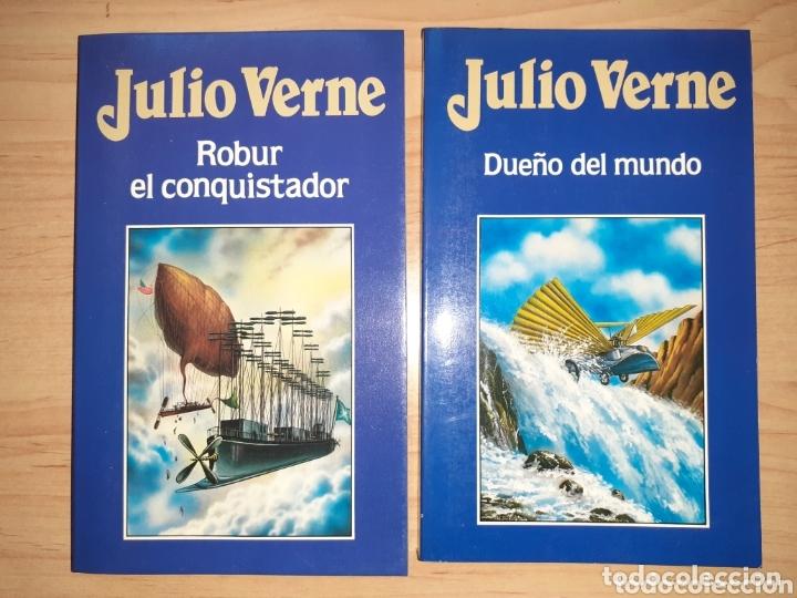 JULIO VERNE. DUEÑO DEL MUNDO. ROBUR EL CONQUISTADOR. DOS LIBROS. (Libros de Segunda Mano (posteriores a 1936) - Literatura - Narrativa - Clásicos)