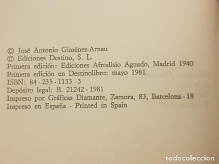 Libros de segunda mano: LIBRO LÍNEA SIEGFRIED / JOSÉ ANTONIO GIMÉNEZ-ARNAU / 1° ED. DESTINOLIBRO 1981. - Foto 2 - 173815643