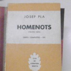 Libros de segunda mano: PLA, JOSEP: HOMENOTS TERCERA SERIE. Lote 174354612
