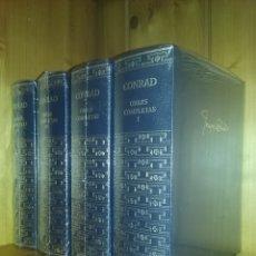 Libros de segunda mano: JOSEPH CONRAD, OBRAS COMPLETAS, AGUILAR, 4 TOMOS, I II III IV. Lote 174641685