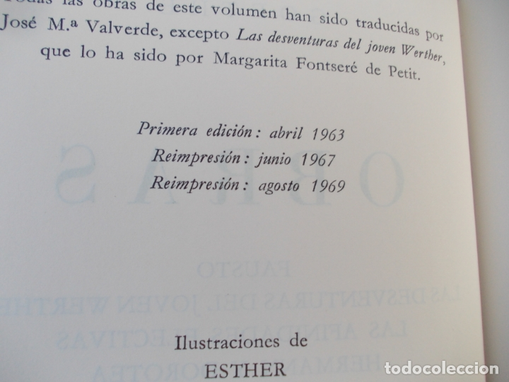 Libros de segunda mano: GOETHE OBRAS 1969 - Foto 4 - 175003653