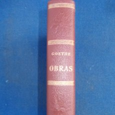 Libros de segunda mano: GOETHE OBRAS 1969. Lote 175003653