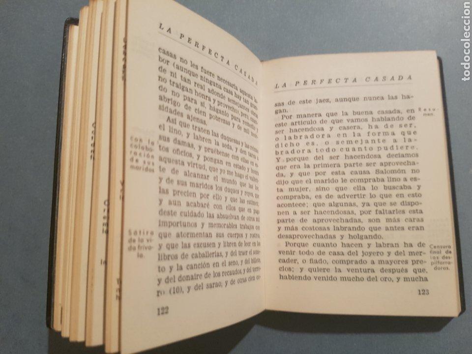 Libros de segunda mano: Fray Luis de León La Perfecta Casada de 1944. Con cupón obsequio de la época. - Foto 4 - 175028294