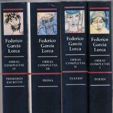 Libros de segunda mano: FEDERICO GARCÍA LORCA OBRAS COMPLETAS ( 4 TOMOS). Lote 175284603