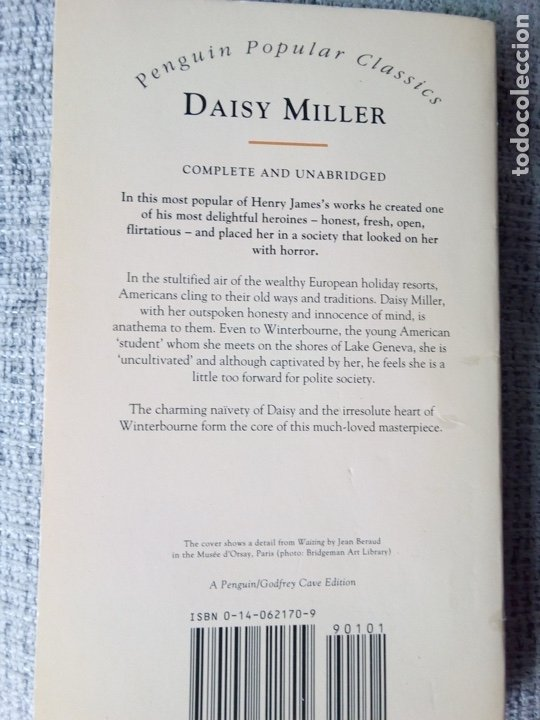 Libros de segunda mano: DAISY MILLER OF HENRY JAMES PENGUIN POPULAR CLASSICS (LIBRO EN INGLES) - Foto 2 - 175312480