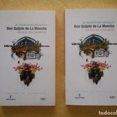 Libros de segunda mano: EL INGENIOSO HIDALGO DON QUIJOTE DE LA MANCHA. MIGUEL DE CERVANTES. 2 TOMOS. ABC. NUEVOS. Lote 175806202