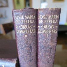 Libros de segunda mano: OBRAS COMPLETAS JOSÉ Mª DE PEREDA ED. AGUILAR 1954. Lote 176062147