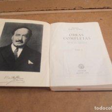 Libros de segunda mano: OBRAS COMPLETAS BLASCO IBAÑEZ AGUILAR TOMO I 1958. Lote 176282862