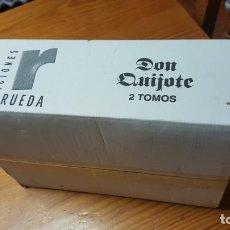 Libros de segunda mano: DON QUIJOTE DE LA MANCHA. MIGUEL DE CERVANTES. EDICIONES RUEDA, 2004. 2 TOMOS. EN EMBALAJE-NUEVO. Lote 176784300
