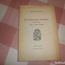Libros de segunda mano: EL LICENCIADO VIDRIERA- MIGUEL DE CERVANTES. SALAMANCA, 1960. Lote 176857149