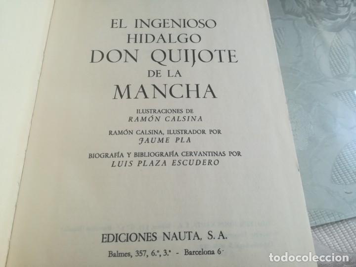 Libros de segunda mano: DON QUIJOTE. Ilustrado por Ramon Calsina.ediciones nauta 1970 - Foto 4 - 176883299