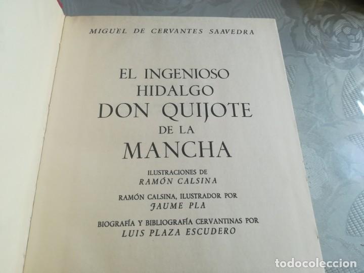 Libros de segunda mano: DON QUIJOTE. Ilustrado por Ramon Calsina.ediciones nauta 1970 - Foto 6 - 176883299