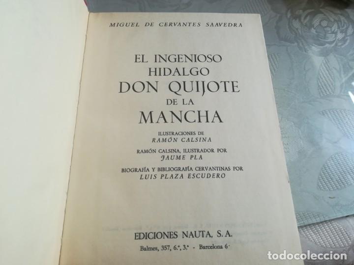 Libros de segunda mano: DON QUIJOTE. Ilustrado por Ramon Calsina.ediciones nauta 1970 - Foto 7 - 176883299