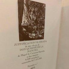 Libros de segunda mano: DON QUIJOTE DE LA MANCHA, EDICION LIMITADA, NUMERADO. 720PAGS. MIDE 29X21CMS. EXCELENTE. Lote 176965682