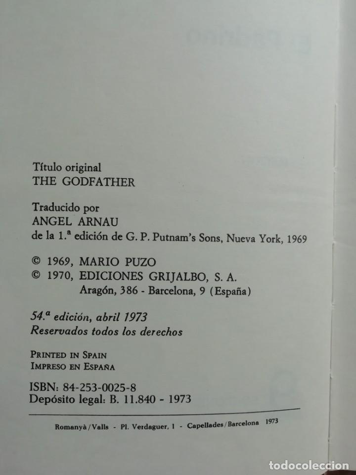 Libros de segunda mano: EL PADRINO, 1973 - Foto 2 - 176977417
