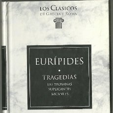 Livres d'occasion: LIBRO. PLANETA DEAGOSTINI. LOS CLÁSICOS DE GRECIA Y ROMA. Nº 98. EURÍPIDES. TRAGEDIAS. Lote 177692008
