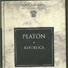 Livres d'occasion: LIBRO. PLANETA DEAGOSTINI. LOS CLÁSICOS DE GRECIA Y ROMA. Nº 26. PLATÓN. REPÚBLICA. Lote 177692048