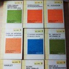 Libros de segunda mano: LOTE 9 LIBROS. BIBLIOTECA CLASICA SALVAT. LIBRO RTV. Lote 177739002