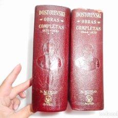 Libros de segunda mano: F. M. DOSTOYEVSKI OBRAS COMPLETAS (2 TOMOS) Y96199 . Lote 177778940