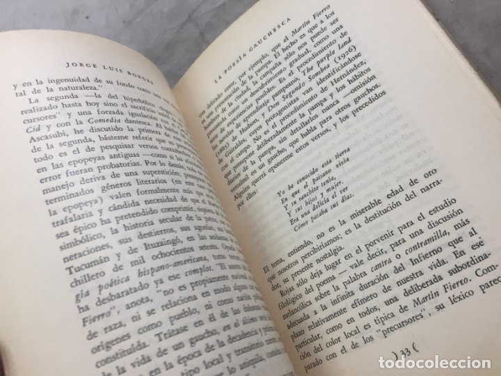 Libros de segunda mano: Jorge Luis Borges. Discusión. (Col. Obras Completas). Buenos Aires, 1957 - Foto 6 - 178005855