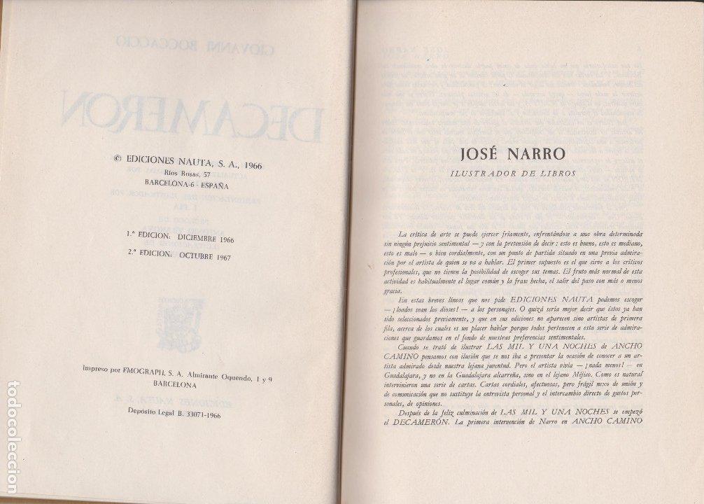Libros de segunda mano: DECAMERON. BOCCACCIO - Foto 3 - 178369700