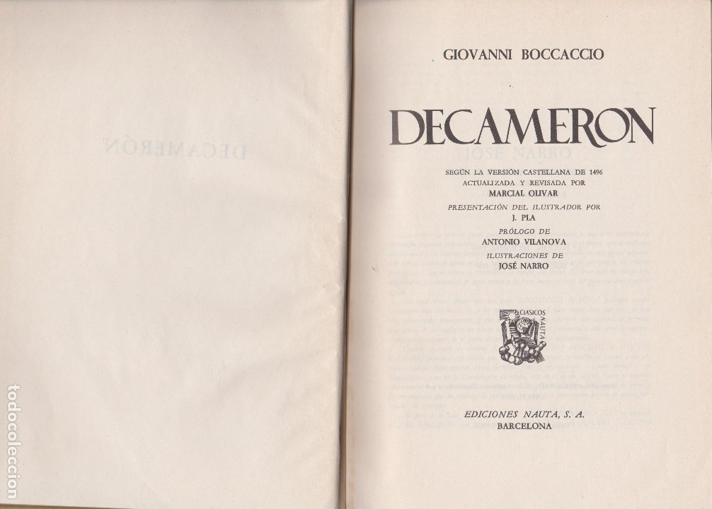 Libros de segunda mano: DECAMERON. BOCCACCIO - Foto 4 - 178369700