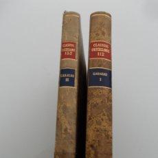 Libros de segunda mano: CLASICOS CASTELLANOS CADALSO Nº 112 TOMO I Y II. Lote 178854590