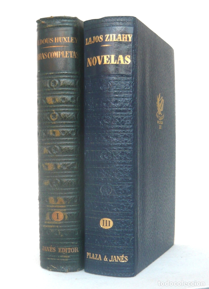 1955 - ALDOUS HUXLEY: OBRAS COMPLETAS - LAJOS ZILAHY: NOVELAS - LOTE DE 2 LIBROS - PAPEL BIBLIA (Libros de Segunda Mano (posteriores a 1936) - Literatura - Narrativa - Clásicos)