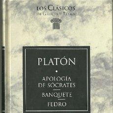 Livres d'occasion: LIBRO. PLANETA DEAGOSTINI. LOS CLÁSICOS DE GRECIA Y ROMA. Nº 3. PLATÓN. APOLOGÍA DE SÓCRATES. Lote 179062810