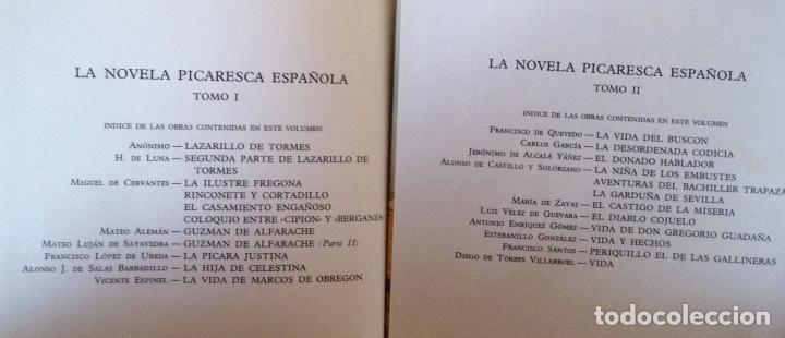 Libros de segunda mano: La novela picaresca española Colección Obras eternas Editorial Aguilar - Foto 3 - 179118240