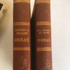 Libros de segunda mano: LIBRO DE GUSTAVO A. BECQUER Y SANTA TERESA DE JESUS, OBRAS DE VERGARA. Lote 179118612