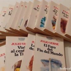 Libros de segunda mano: COLECCIÓN CLÁSICOS JUVENILES PLANETA - JULIO VERNE Y EMILIO SALGARI - 19 TOMOS. Lote 179139802