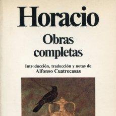 Libros de segunda mano: HORACIO. OBRAS COMPLETAS.. Lote 179323825