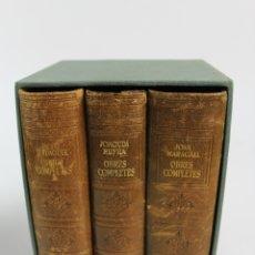 Libros de segunda mano: L-3153. LOT DE 3 LLIBRES OBRES COMPLETES J.VERDAGUER, J.RUYRA I JOAN MARAGALL. 1947-1949.. Lote 179520336