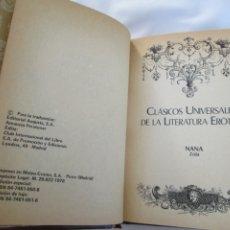 Libros de segunda mano: CLÁSICOS UNIVERSALES DE LA LITERATURA ERÓTICA - NANA / ZOLA - 1978. . Lote 179548728