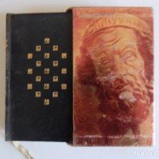 Libros de segunda mano: LIBRERIA GHOTICA. LUJOSA EDICIÓN EN PIEL DE HOMERO. ILIADA. HIMNOS.1961.PAPEL BIBLIA. ESTUCHE.. Lote 179554848