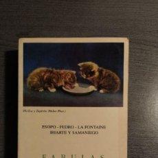 Libros de segunda mano: FABULAS COMPLETAS: ESOPO-FEDRO-LA FONTAINE-IRIARTE Y SAMANIEGO . JUAN BAUTISTA BERGUA. . Lote 180017043