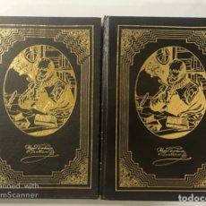 Libros de segunda mano: EL INGENIOSO HIDALGO DON QUIJOTE DE LA MANCHA. MIGUEL CERVANTES. OBRA EN DOS TOMOS. ED. RUEDA. LEER. Lote 180084787
