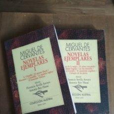 Libros de segunda mano: MIGUEL DE CERVANTES - NOVELAS EJEMPLARES EN 2 VOL. AUSTRAL199 Y 200. Lote 180107633