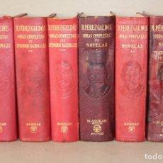 Libros de segunda mano: EDITORIAL AGUILAR. OBRAS COMPLETAS. 6 TOMOS (I AL VI) - BENITO PÉREZ GALDÓS. Lote 180129073