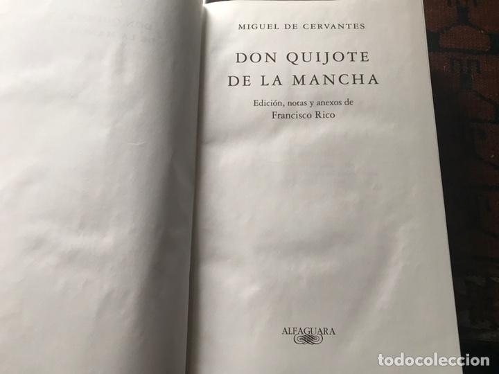 Libros de segunda mano: Don Quijote de la mancha. Edición de Francisco Rico. Alfaguara. 2007 - Foto 6 - 180151033