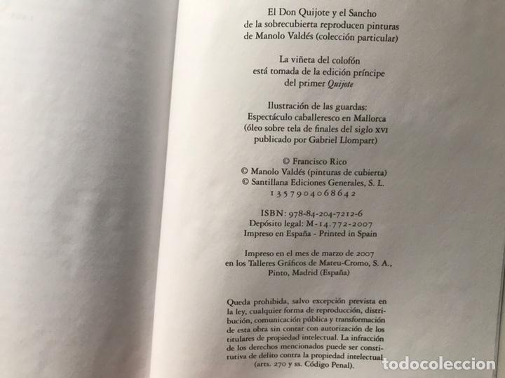 Libros de segunda mano: Don Quijote de la mancha. Edición de Francisco Rico. Alfaguara. 2007 - Foto 8 - 180151033