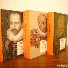 Libros de segunda mano: MICHEL DE MONTAIGNE: ASSAIGS I, II I III. OBRA COMPLETA (PROA, 2006) PRIMERA EDICIÓ. RAR.. Lote 180257993
