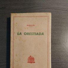 Libros de segunda mano: LA ORESTIADA. ESQUILO. BLASS. . Lote 180411813