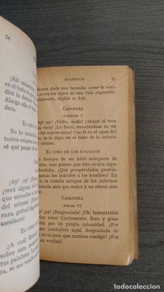 Libros de segunda mano: LA ORESTIADA. Esquilo. Blass. - Foto 4 - 180411813