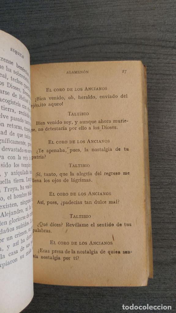 Libros de segunda mano: LA ORESTIADA. Esquilo. Blass. - Foto 6 - 180411813