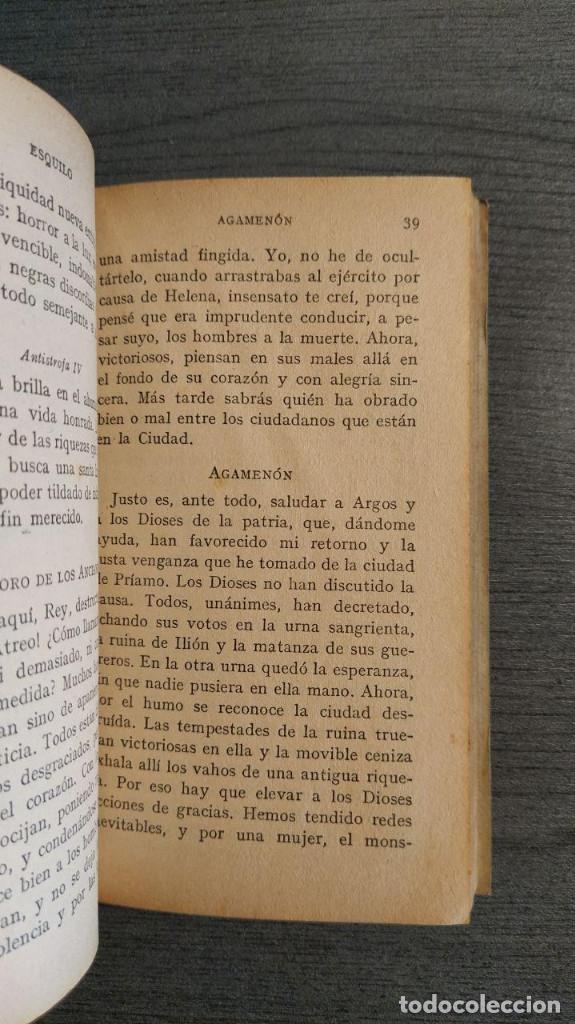 Libros de segunda mano: LA ORESTIADA. Esquilo. Blass. - Foto 7 - 180411813