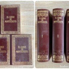 Libros de segunda mano: EL CONDE DE MOTECRISTO. ALEJANDRO DUMAS TOMOS I, II Y III. MAIL IBERICA. BARCELONA, 1970. Lote 206420277
